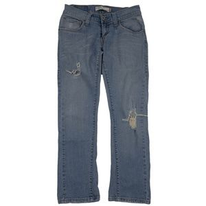 Levi's 504 Juniors Slouch Straight Distressed Size